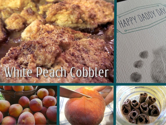 Farmer's Market Finds: White Peach Cobbler