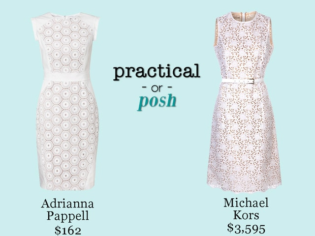 Practical or Posh: White Sheath Dress