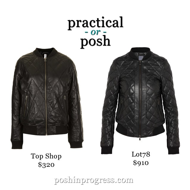 Practical or Posh: Black Quilted Leather Jacket