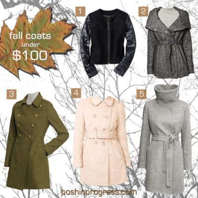 Value Priced Fall Coats for Women