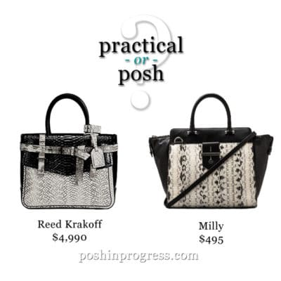 Practical or Posh? Snakeskin handbags