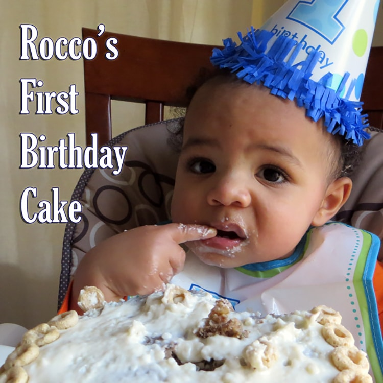 Rocco's First Birthday Cake