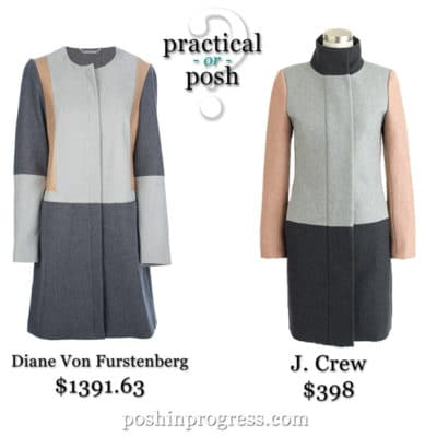 Practical or Posh: Neutral Wool Color Block Coats