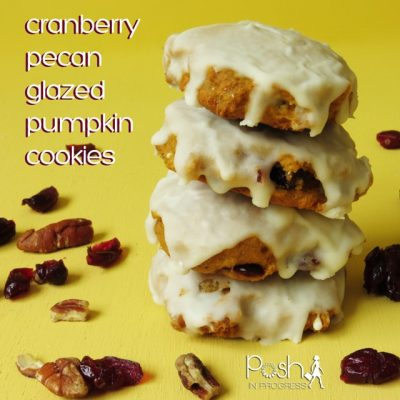 Cranberry Pecan Glazed Pumpkin Cookies