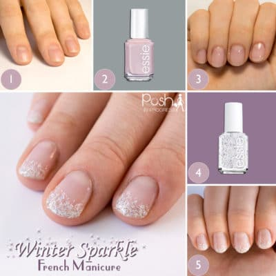 Winter Sparkle French Manicure