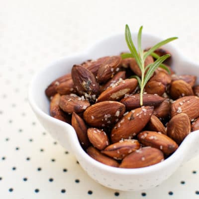 Black Pepper and Rosemary Roasted Almonds