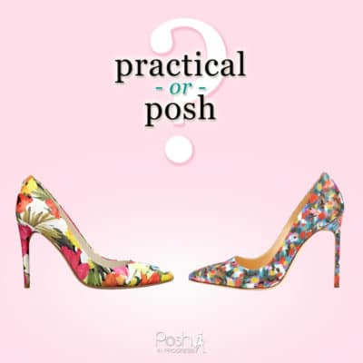 Practical or Posh? Floral Print Pumps