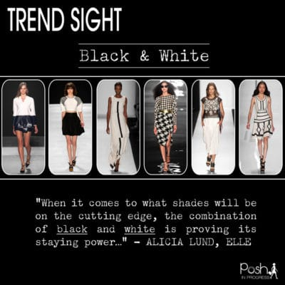 Black and White Trend Hot for Spring 2014