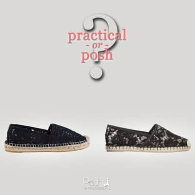 Practical or Posh: Lace Espadrilles