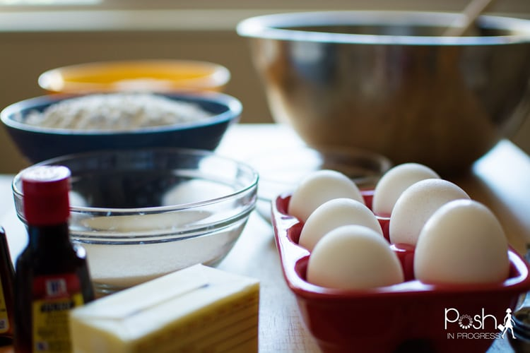 You'll be using eggs, vanilla, butter, sugar, salt, in this great recipe.