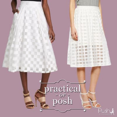 Practical or Posh: White Midi Skirt