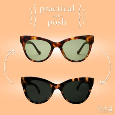 Practical or Posh: Tortoise Cat Eye Sunglasses