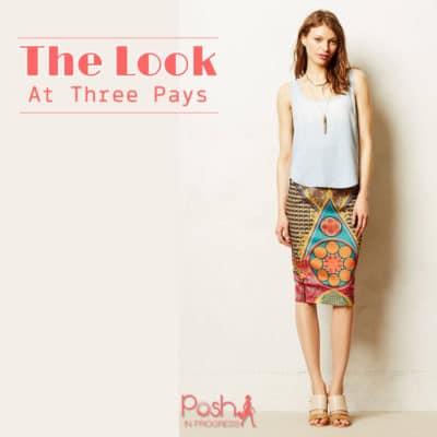 One Look, Three Pays: Printed Skirt and Top