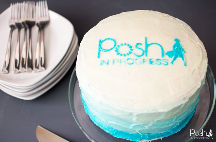 Check out this Blue Ombre Cake make with a DIY Cake Stencil.