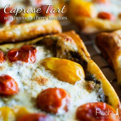 Caprese Tart with Heirloom Tomatoes