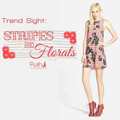Trend Sight: Stripes and Florals Together