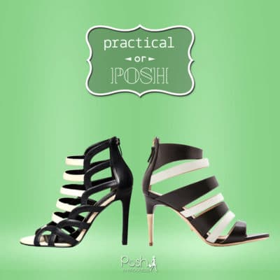 Practical or Posh: Black and White Heels