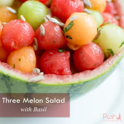 Three Melon Salad with Basil