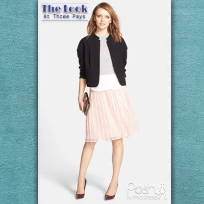 Three Pays: Pink Pleated Midi Skirt Look