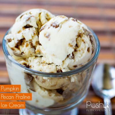 Pumpkin Pecan Praline Ice Cream