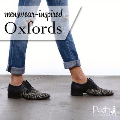 Menswear Inspired Oxfords