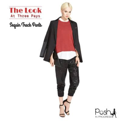 One Look, Three Pays: Sequin Track Pants