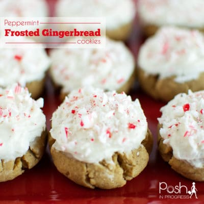 Peppermint Frosted Gingerbread Cookies