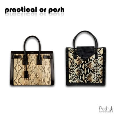 Python Leather Handbags