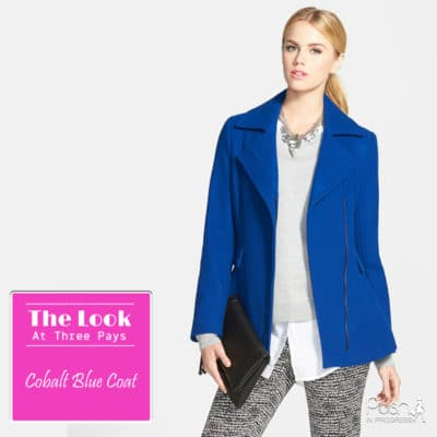 One Look, Three Pays: Cobalt Blue Coat