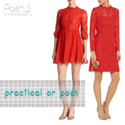 Practical or Posh: Red Lace Dress with Sleeves
