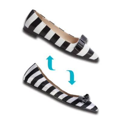 Practical or Posh: Black and White Striped Flats