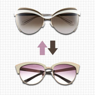 Practical or Posh: White Cat Eye Sunglasses