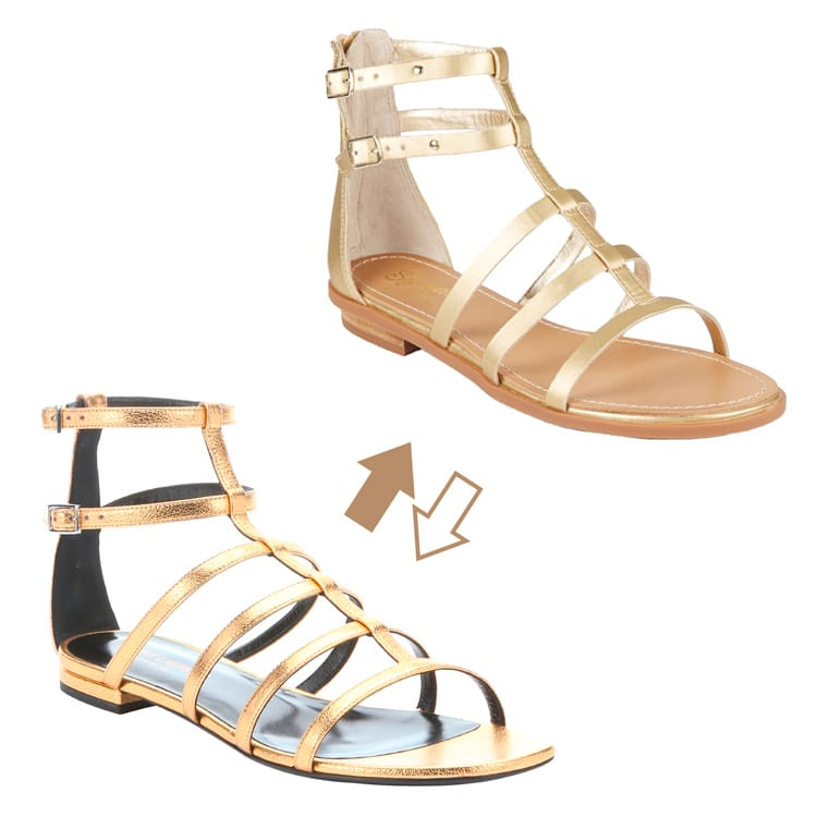 Practical or Posh: Gold Gladiator Sandals