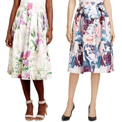 Practical or Posh: Floral Print Midi Skirt