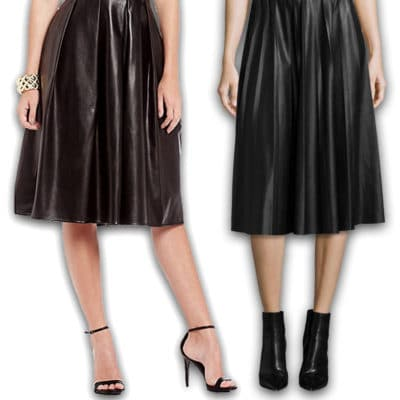 Practical or Posh: Leather Midi Skirt