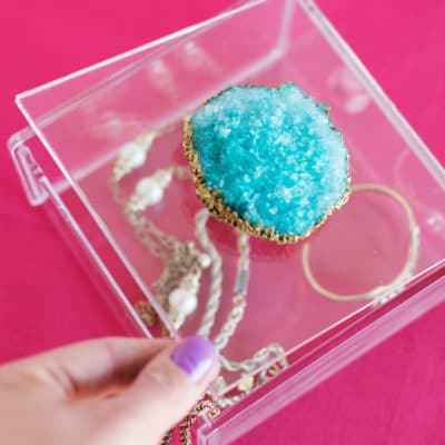 DIY Crystal Geode Jewelry Box
