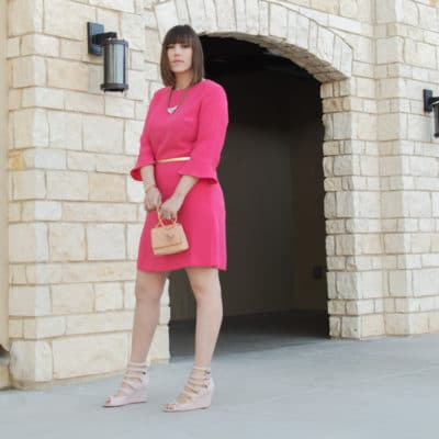Pink Sheath Dress and Shades of Pink