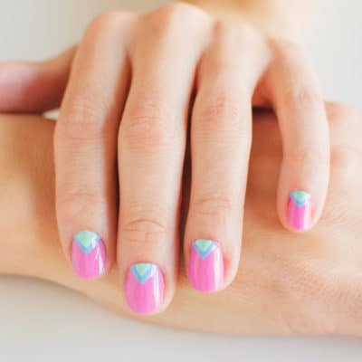 Simple Triangle Nail Art Tutorial