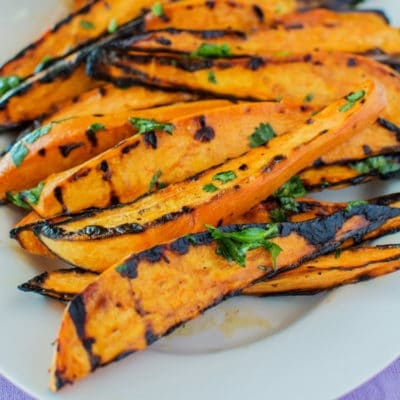 Cilantro-Lime Grilled Sweet Potato Wedges