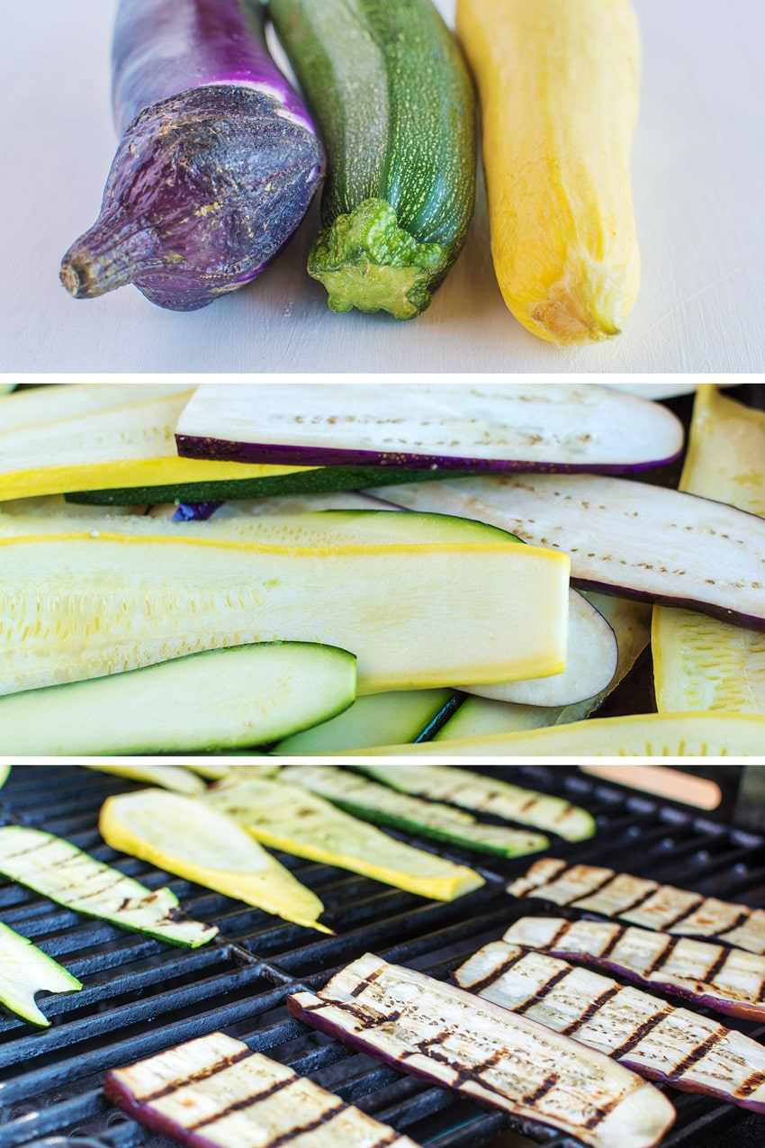 Memorial Day Grilling Recipes by popular LA lifestyle blog, Posh in Progress: image of squash, zucchini, and eggplant.
