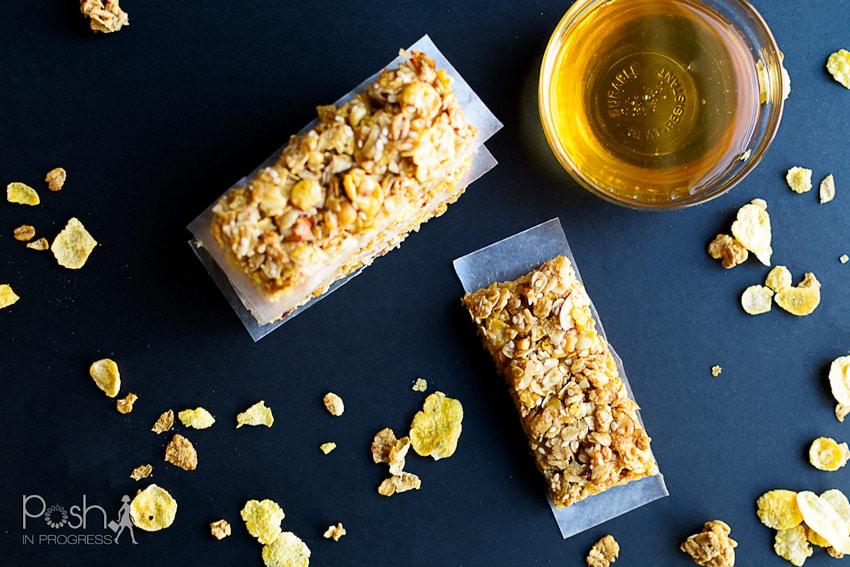 No-Bake Honey Oat Homemade Cereal Bars