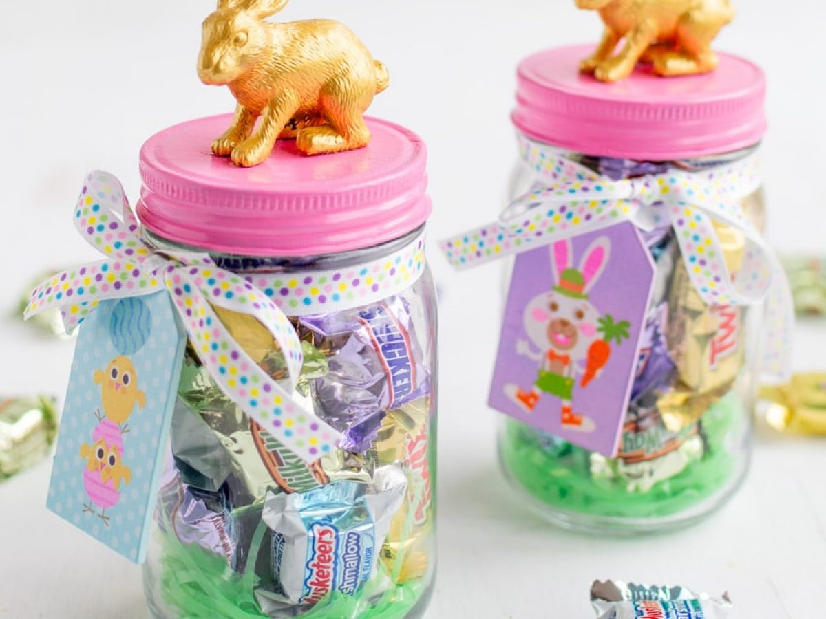 How To Make This Cute Bunny Candy Jar For Easy Diy Easter Decor Posh In Progress
