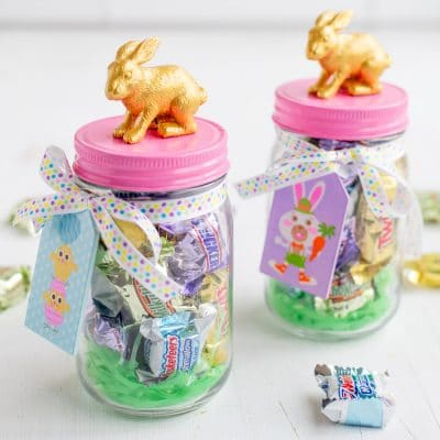 How to Make This Cute Bunny Candy Jar for Easy DIY Easter Decor