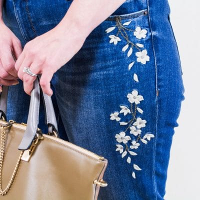how to get 3 outfits from embroidered boyfriend jeans