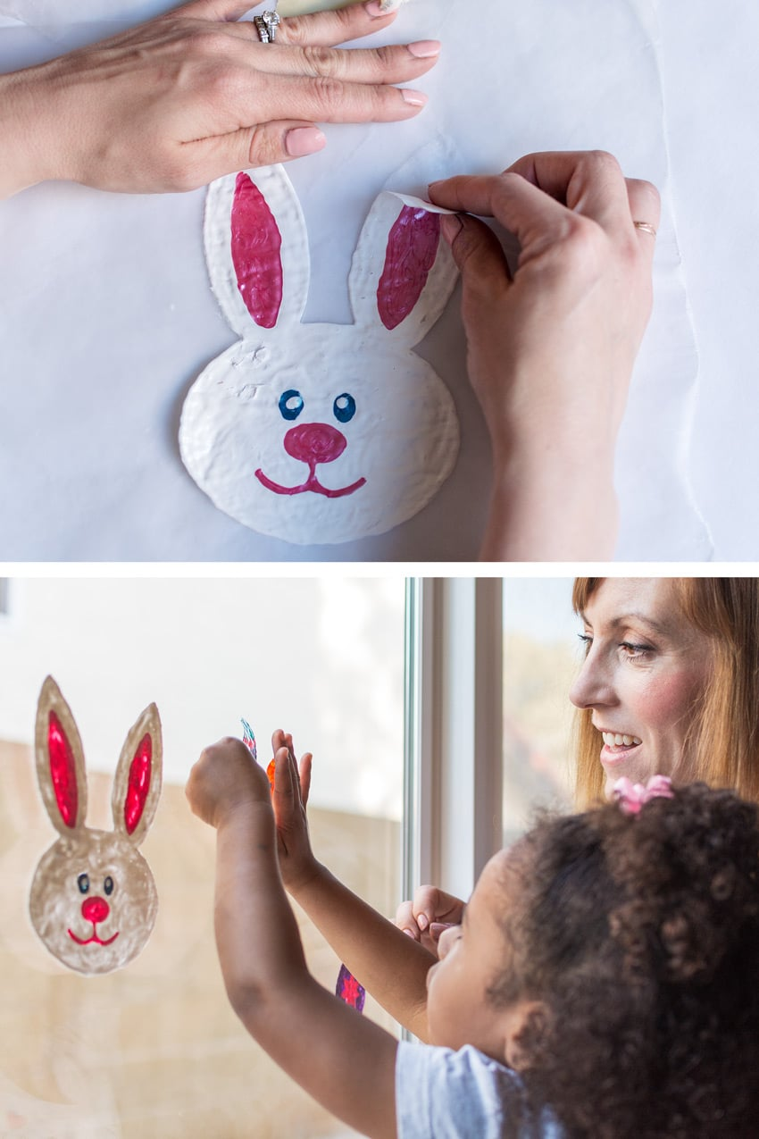 How to Make these DIY Window Clings with Toddlers