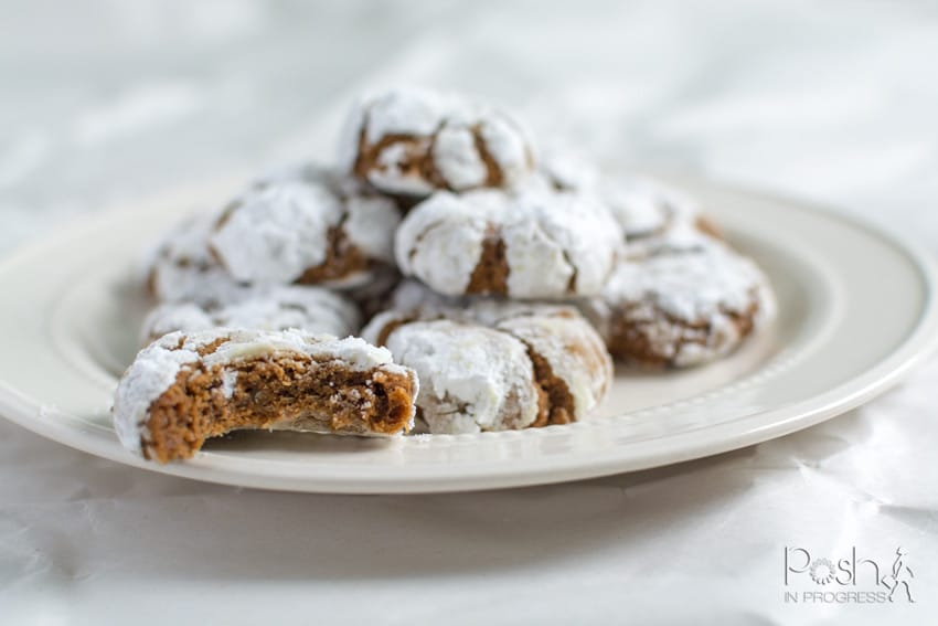 How to Make These Spicy Gingerbread Crinkle Cookies