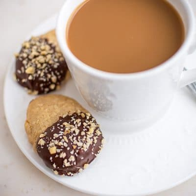 How to Make Chocolate Dipped Hazelnut Shortbread Cookies