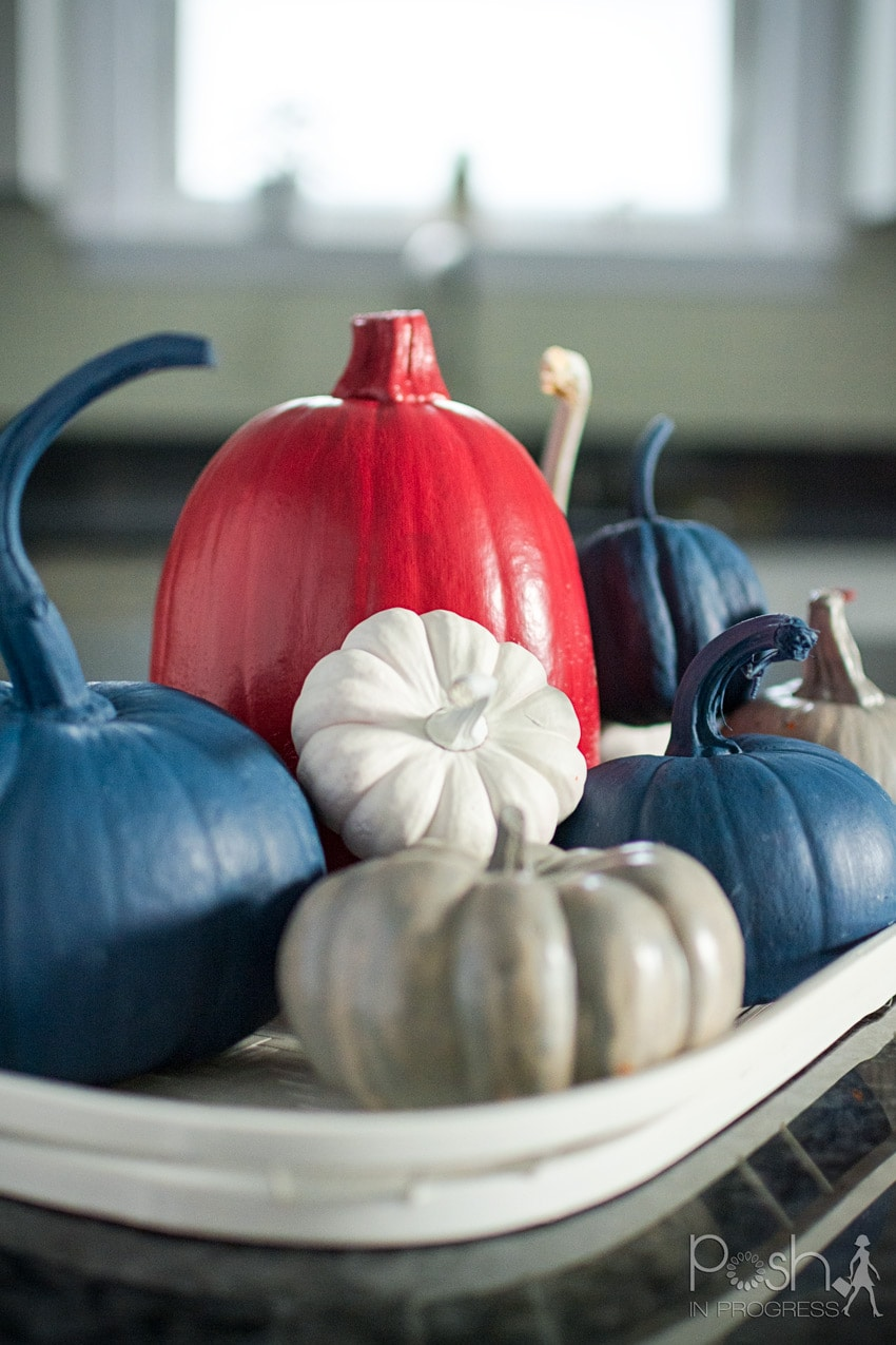 How to Make This Easy DIY Painted Pumpkins Centerpiece