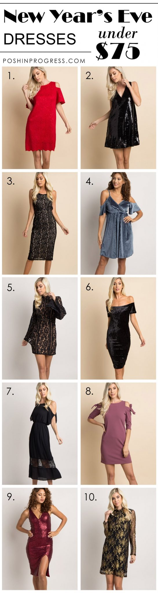 10 Cute and Affordable New Year's Eve Dresses Under $75