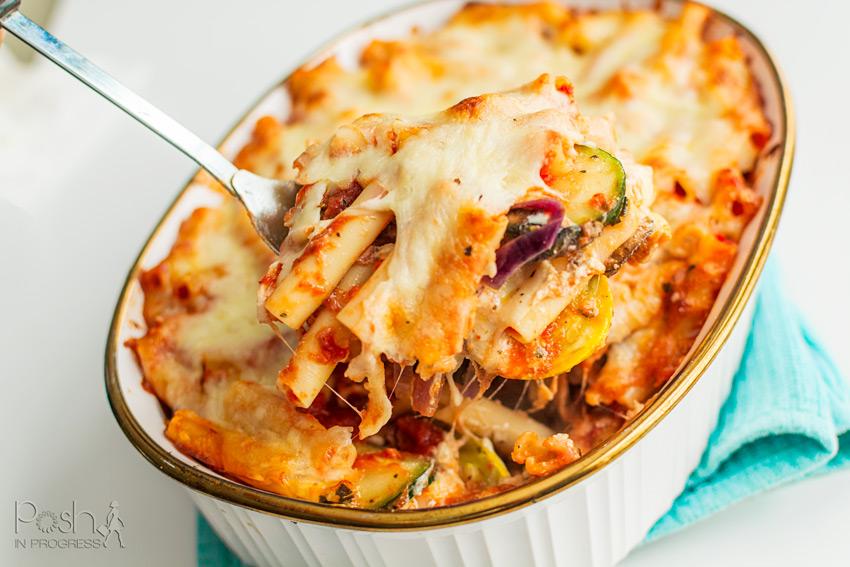 Roasted Mediterranean Vegetable Baked Ziti